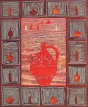 Czerwony dzban, 2008, technika wałasna, papier fotograficzny, 40x60