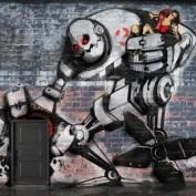 Art Graffiti Alphabet Robot Cyber
